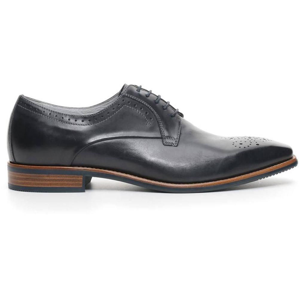 Scarpa-Elegante-Uomo-Classica-in-Pelle-Blu-P704860U-200-Nero-Giardini