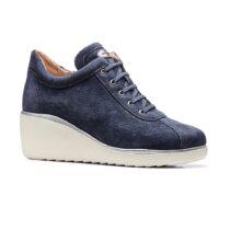 Sneaker Alta Donna Stonefly in Pelle Blu - 110109