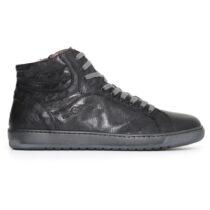 Sneaker Alta Uomo Nero Giardini Nera in Pelle - A705350U100