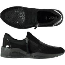 Sneaker Bassa Donna Geox Nera con Zip - D620SA 021EW C9999
