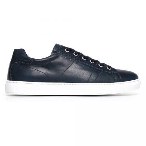 Sneaker Bassa Uomo Nero Giardini in Pelle Blu - P800280U208
