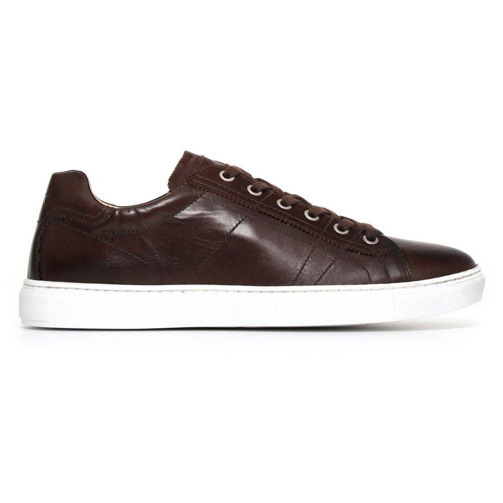 Sneaker Bassa Uomo Nero Giardini in Pelle Marrone - P800280U300