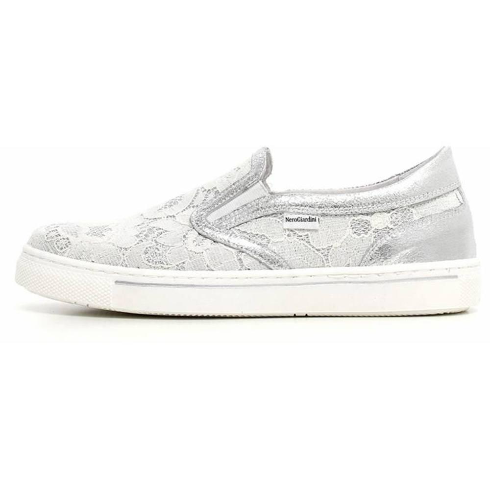 b3d32c625b1aa Sneaker Bassa con Pizzo Bambina Bianca P732181F 707 - Nero Giardini