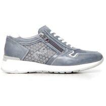 Sneaker-Donna-Bassa-in-Camoscio-Blu-P717041D-205-Nero-Giardini