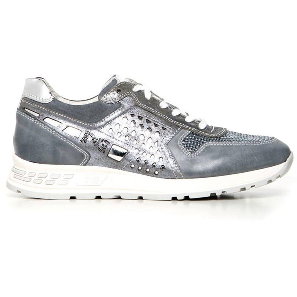 Sneaker Donna Bassa in Camoscio Blu P717220D 205 Nero Giardini