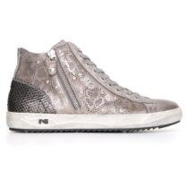 Sneaker Donna Nero Giardini Grigia Alta con Ricami - A719250D104