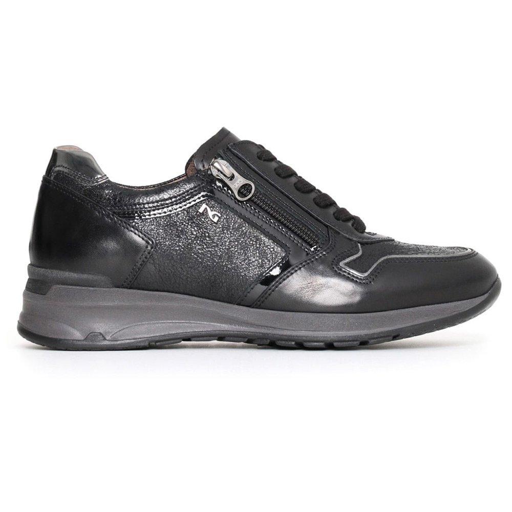 Sneaker Donna Nero Giardini Nera in Pelle e Vernice A719221D100
