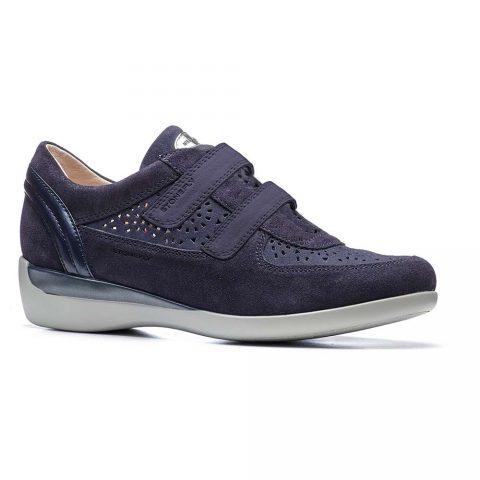 Sneaker Donna Stonefly in Pelle Blu - 110082