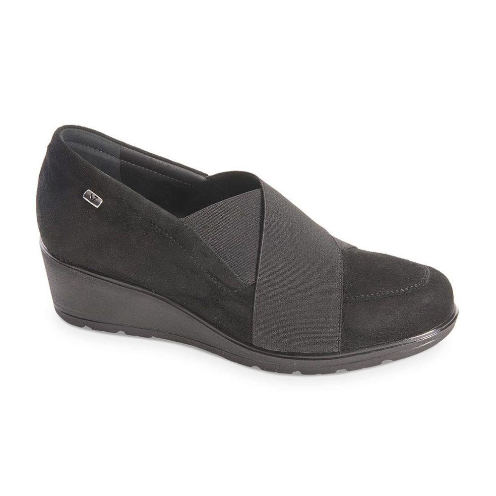 Sneaker Donna Valleverde Nera in Pelle - V17810