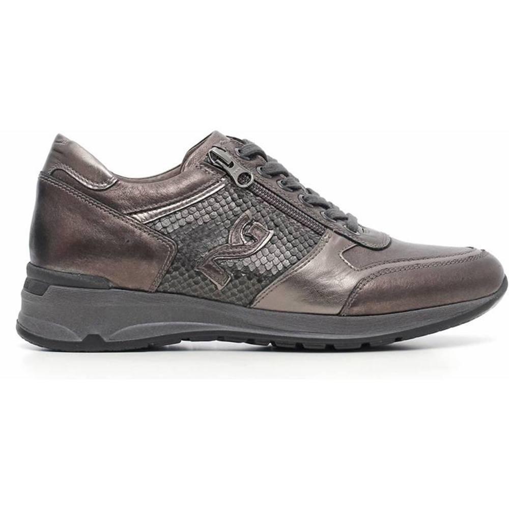 Sneaker Donna in Pelle Grigia A616053D 105 Nero Giardini