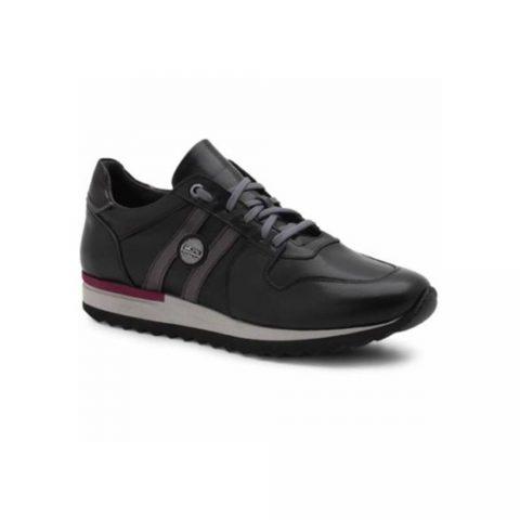 Sneaker Uomo Exton in Pelle Nera - 555