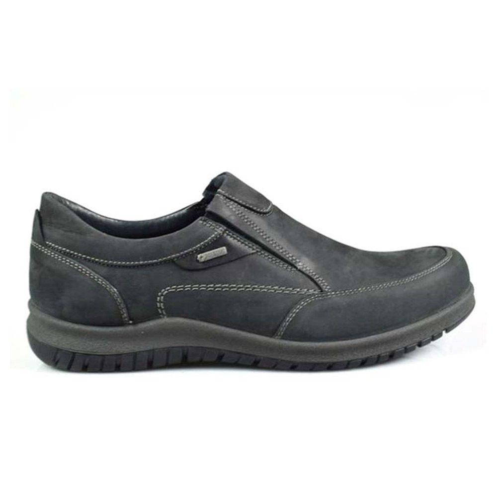 Sneaker Uomo Igi&Co Nera in Nabuk - 8712200