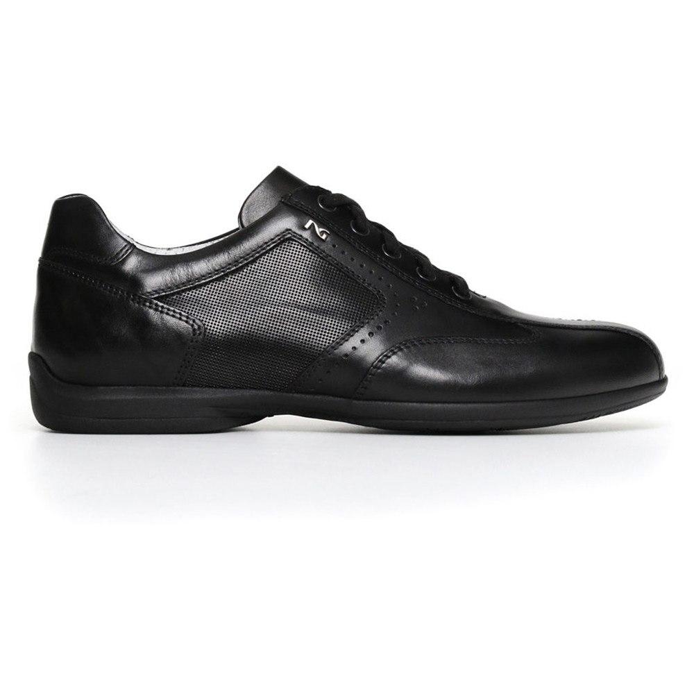 Sneaker Uomo Nero Giardini in Pelle Nera - P800140U100