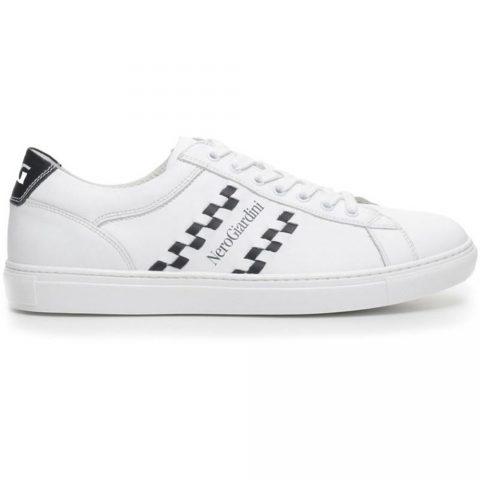 Sneaker-Uomo-in-Pelle-Bianca-P704930U-707-Nero-Giardini