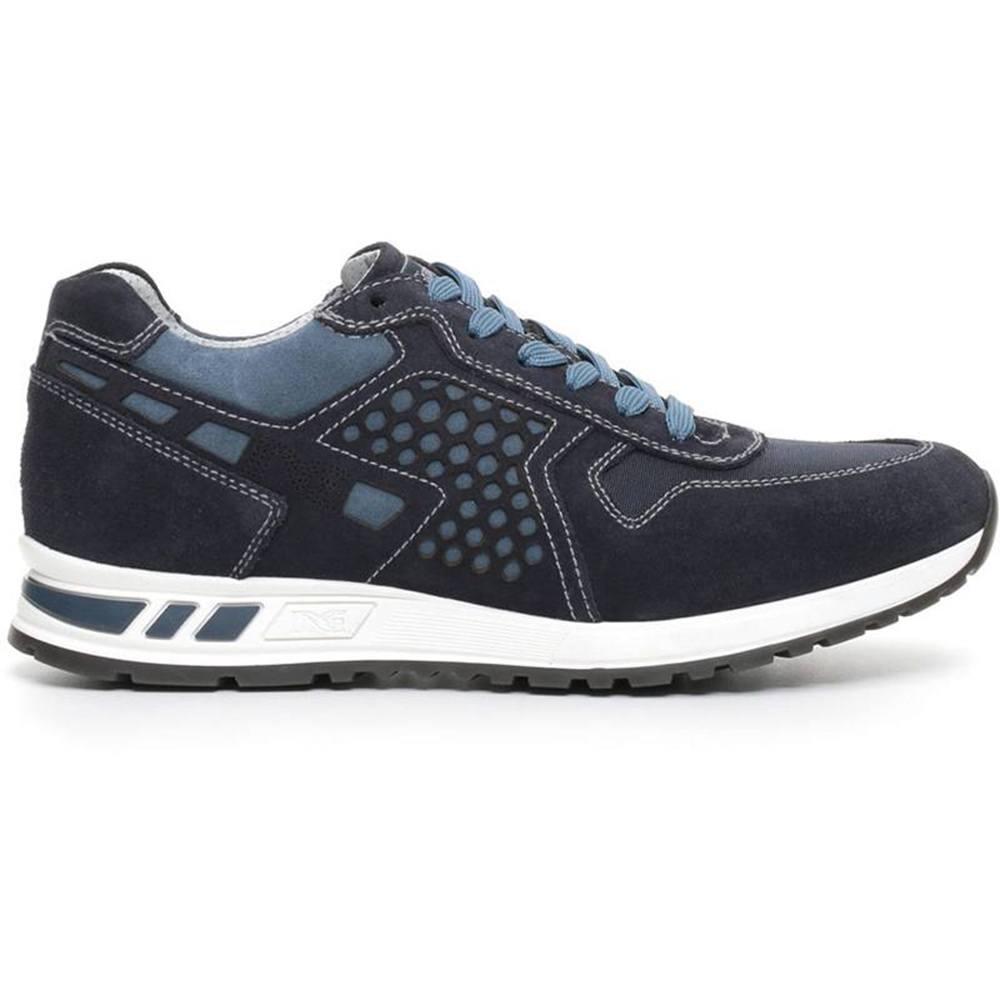 Sneaker-Uomo-in-Tela-Blu-P704901U-200-Nero-Giardini