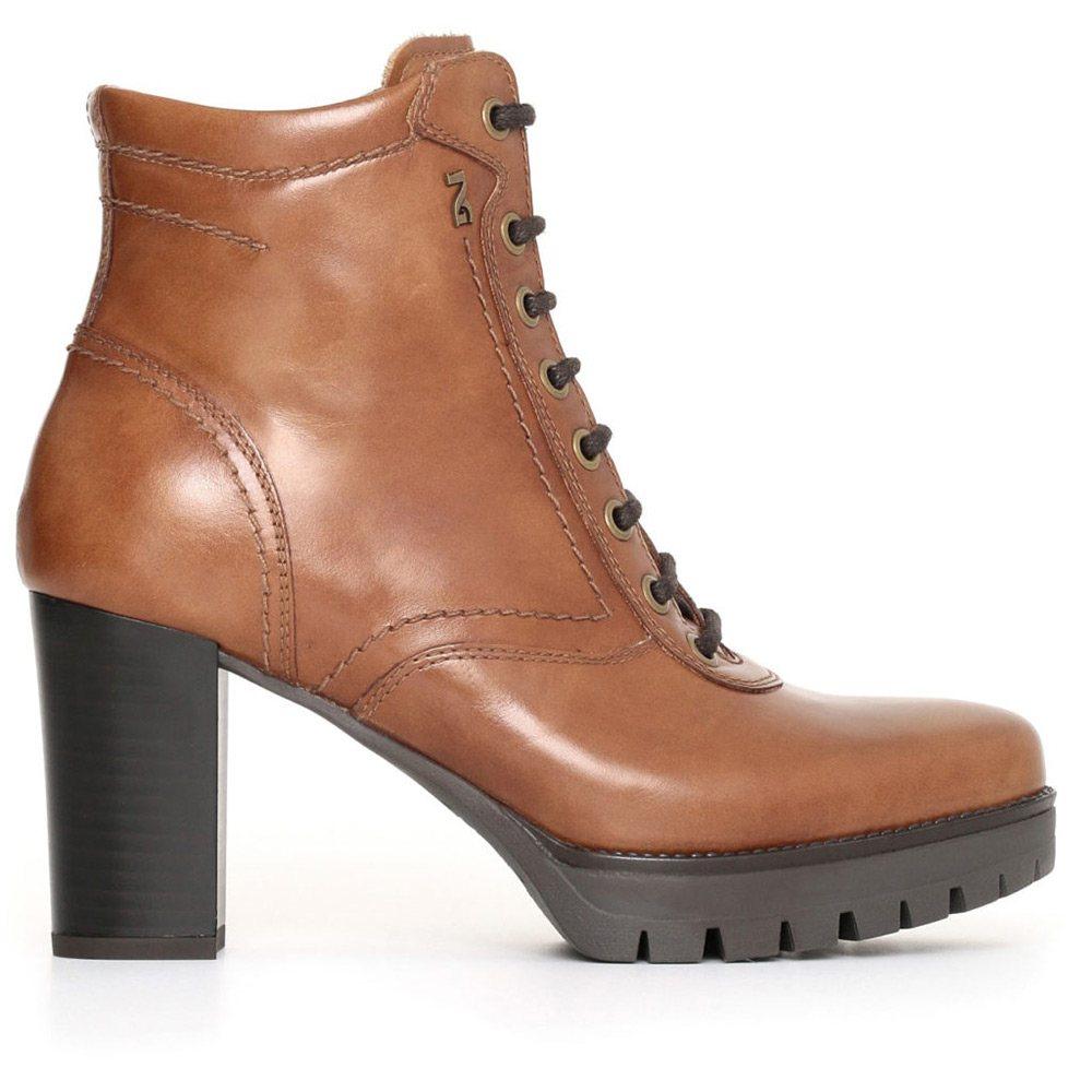 più colori volume grande scarpe casual Tronchetto Donna Nero Giardini Cuoio in Pelle