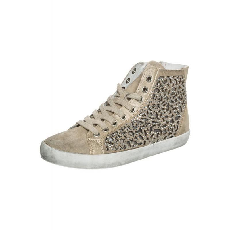 Sneaker-Donna-Beige-QEG612---Café-Noir
