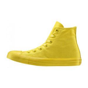 converse gialle pelle