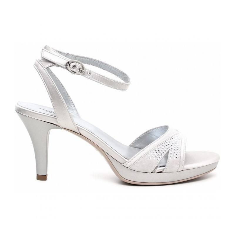 Sandalo Donna Bianco P513010DE 700 Nero Giardini