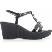 Sandalo-con-Zeppa-in-Tela-Nero-P615620D-100---Nero-Giardini