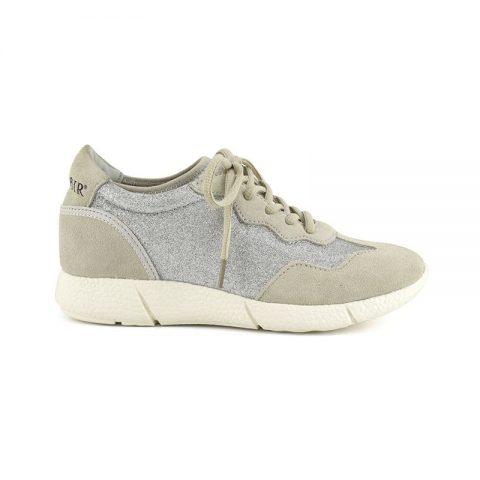 competitive price 570d5 59ab1 Sneakers con Zeppa Interna Argento DB618 - Café Noir