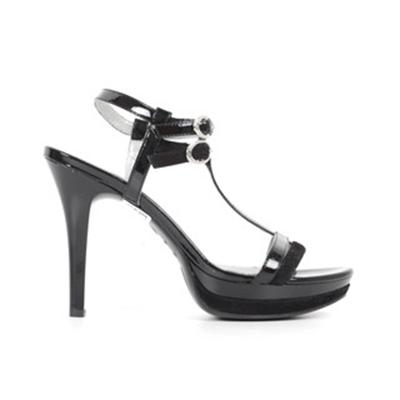 Sandalo Donna in Pelle Nero P615751DE 100 Nero Giardini