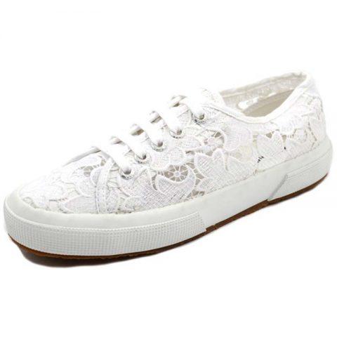 Sneaker-Donna-Bassa-Bianca-S008YA0---Superga