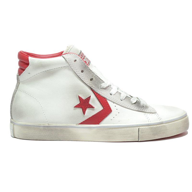 Sneaker Unisex Pro Leather Vulc Mid Bianca 155098CS Converse