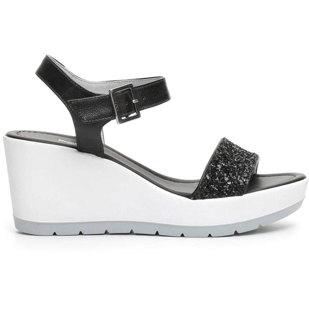 Sandalo In Nero Alto Donna Giardini P717710d 100 Pelle ikXOuPZ