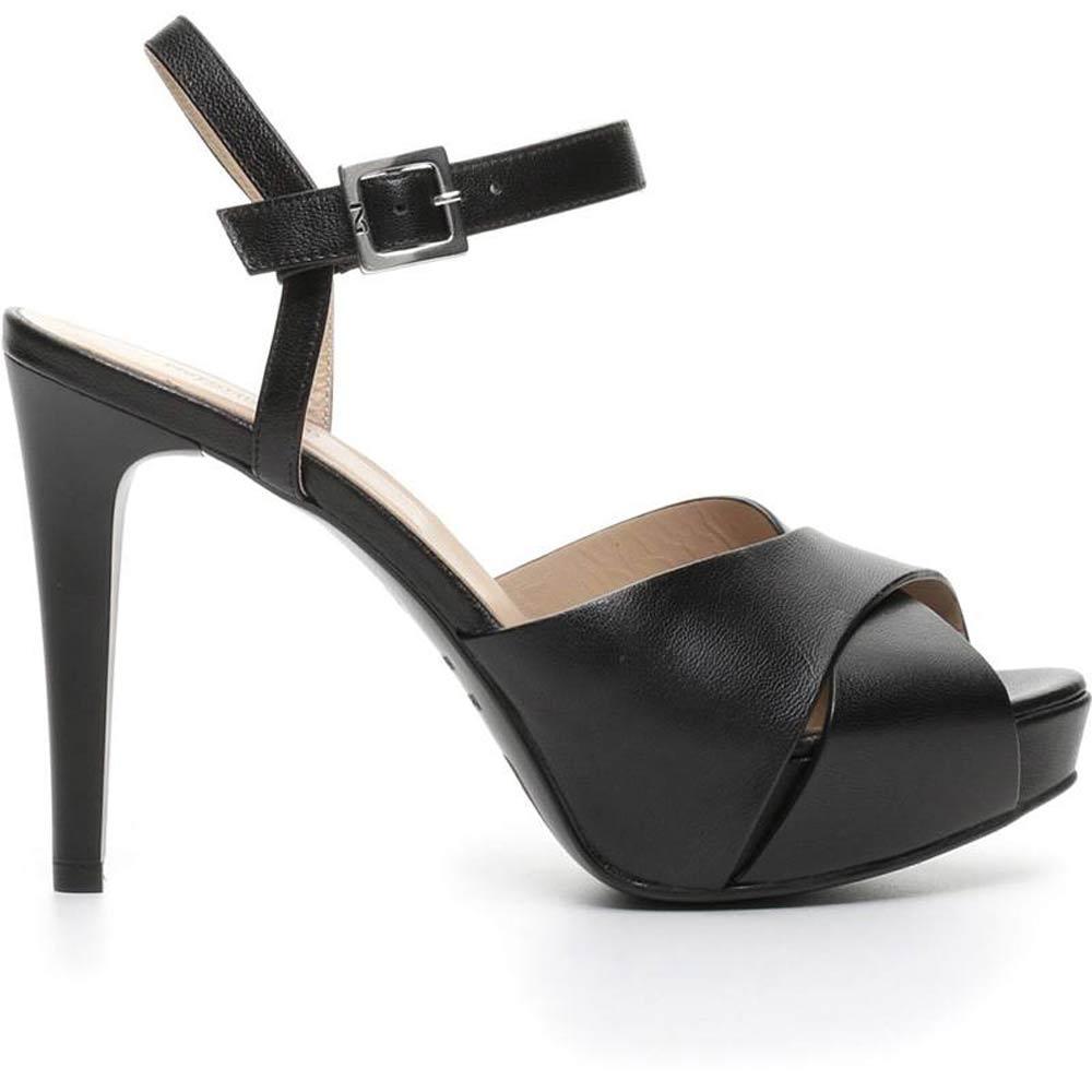 ac933dcf16 Sandalo Donna Alto in Pelle Nero P717900DE 100 - Nero Giardini
