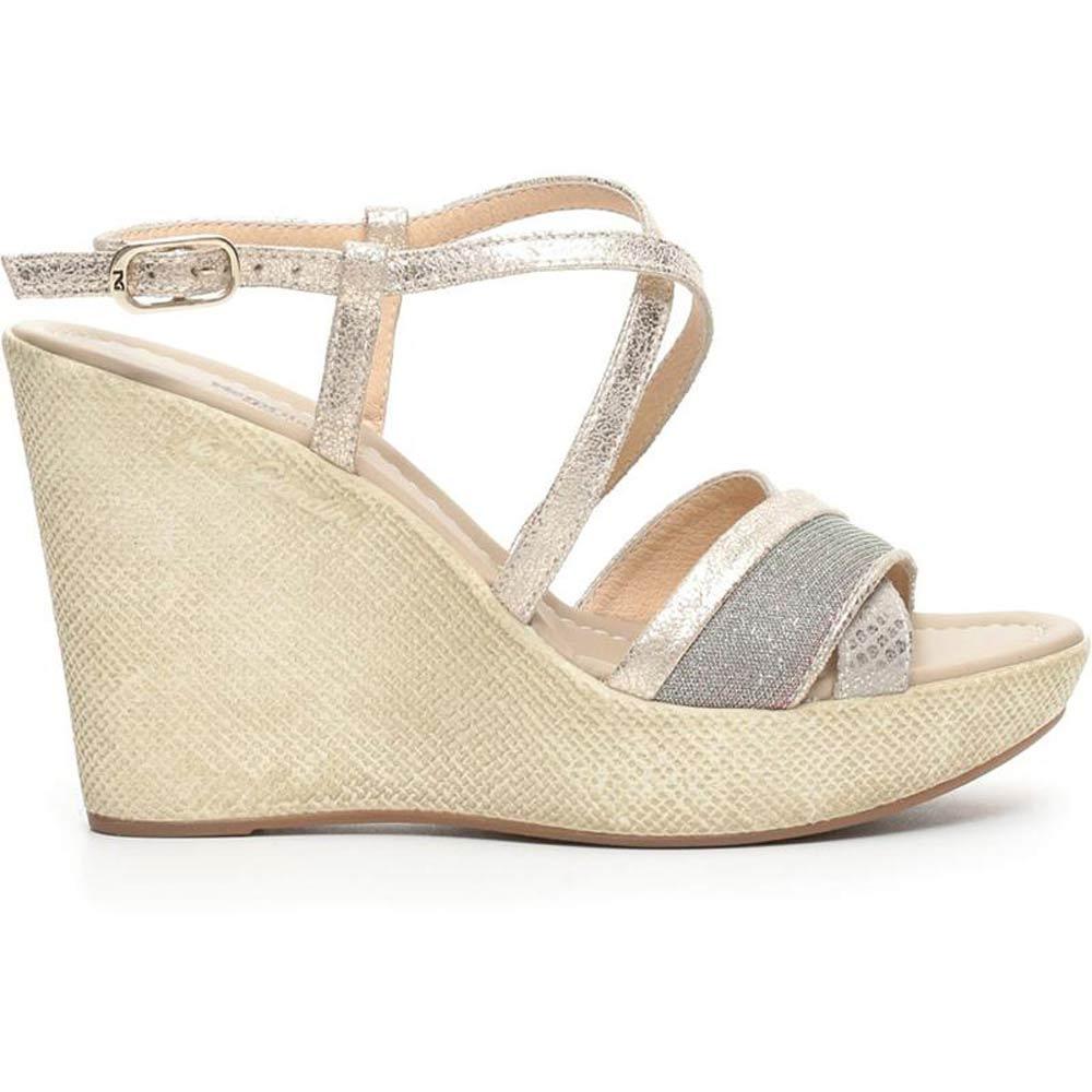 Sandalo Donna Alto in Pelle Platino P717622D 415 Nero Giardini