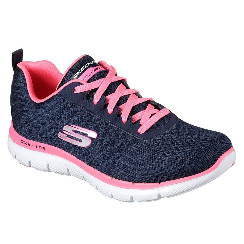 Scarpa Skechers Sneaker Donna Blu Rosa