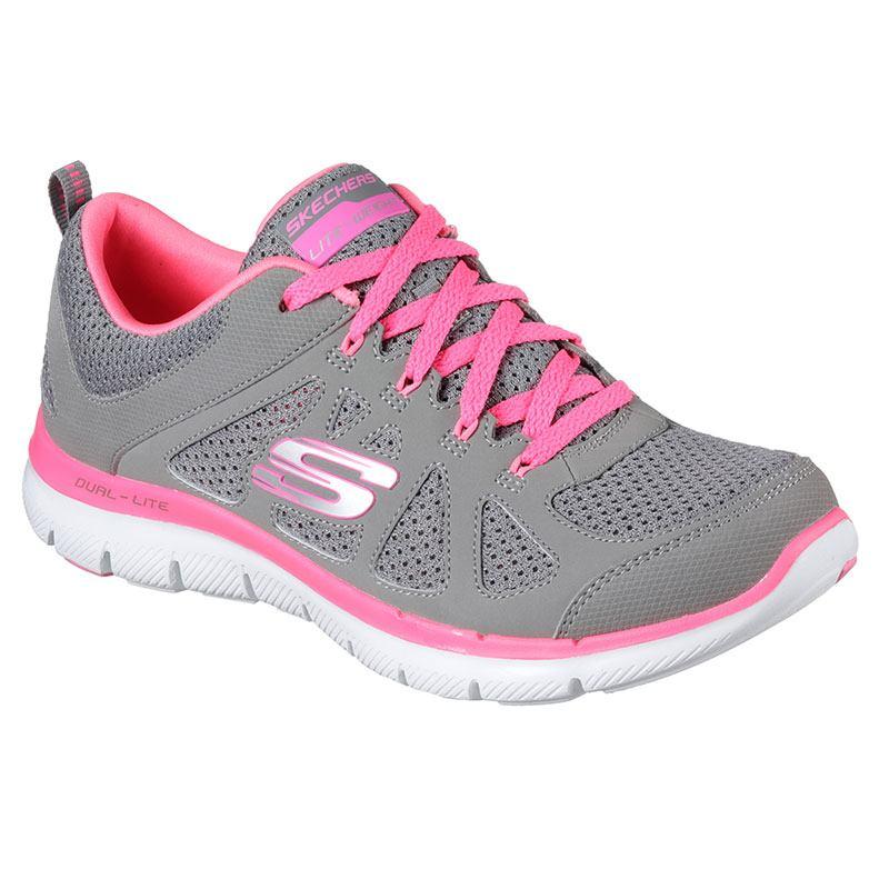 Skechers Grigia Donna Sneaker Rosa Scarpa 0HAqBdw0