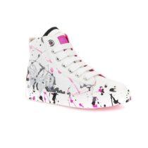 Sneaker Geox Alta Bambina Bianca