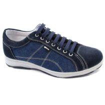 Sneaker-Uomo-Bassa-in-Tela-Blu-7700300-IgiCo