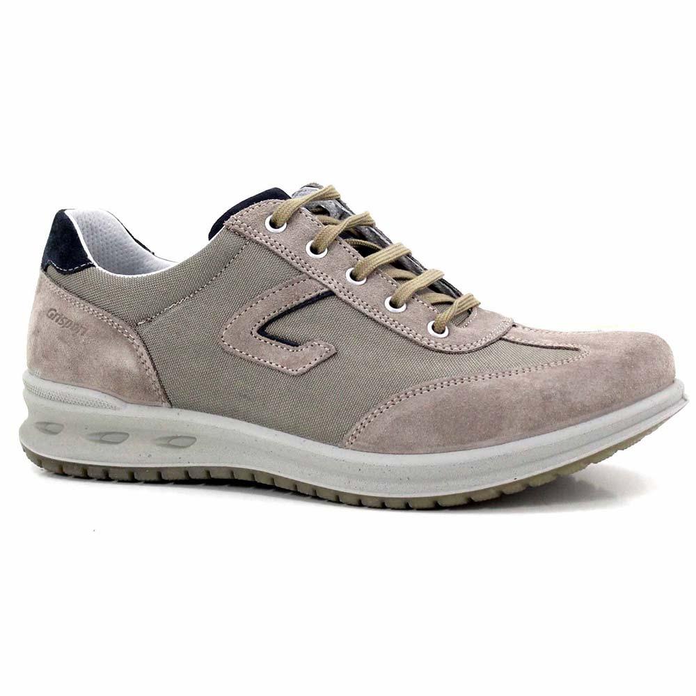 Sneaker Uomo Comoda in Pelle Grigia 42900 8 - Grisport Jbck3Nv10O