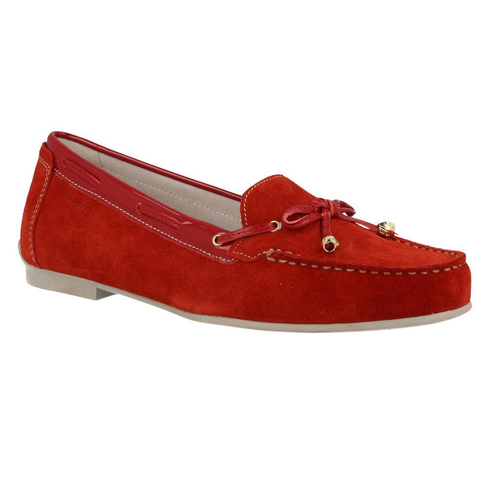 Mocassini donna, color Rosso , marca GEOX, modelo Mocassini