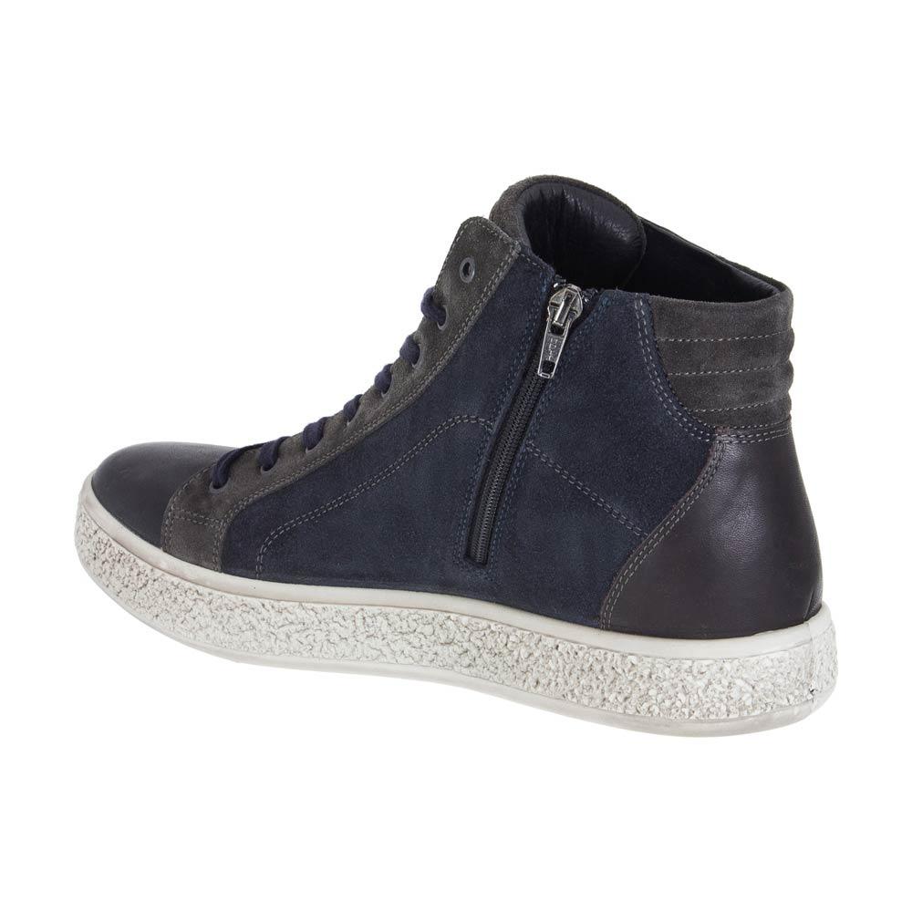hot sale online 5fa53 bebd4 Sneaker Alta Uomo Igi&Co Nera in Pelle