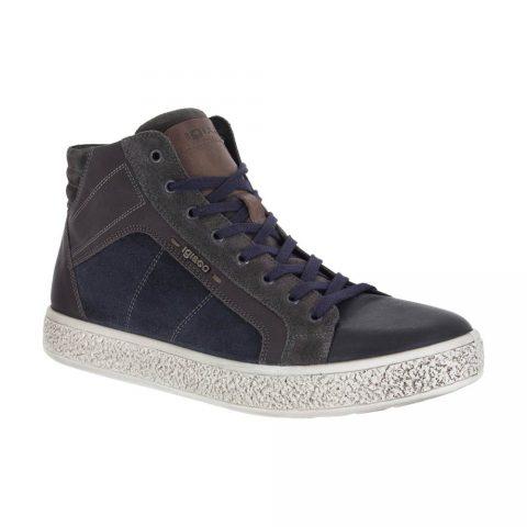 Sneaker Alta Uomo Igi&Co Nera in Pelle - 8722100