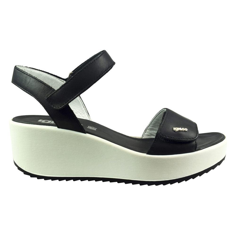 Sandalo Donna Igi&Co in Pelle Nero - 1176344
