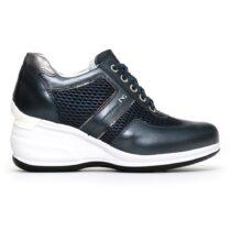 Sneaker Alta Donna Nero Giardini in Pelle Blu - P805072D201