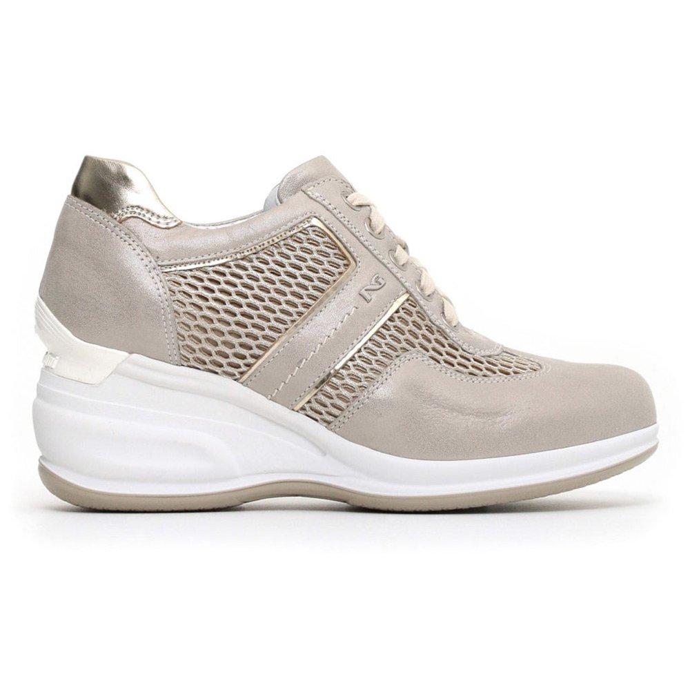Sneaker Alta Donna Nero Giardini in Pelle Grigia - P805072D505
