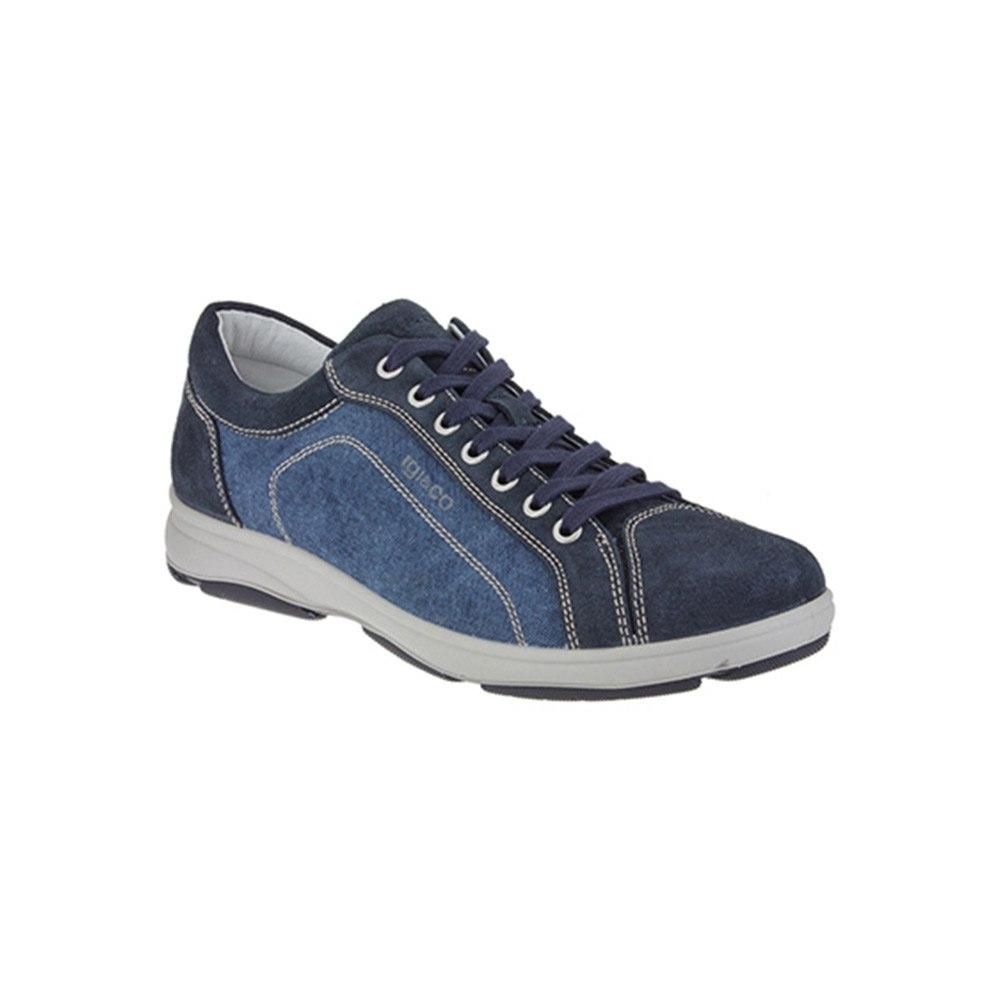 Sneaker Bassa Uomo Igi&Co in Camoscio e Tessuto Blu - 1113900