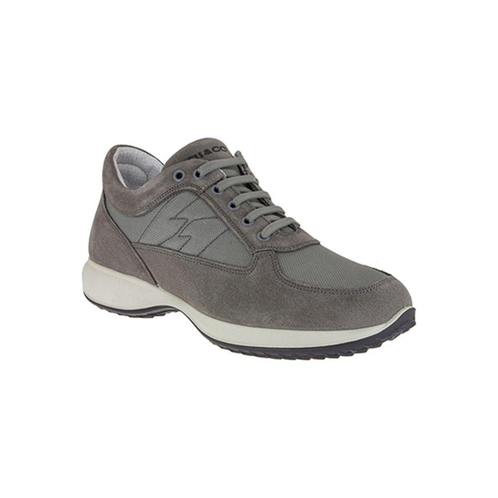 Sneaker Bassa Uomo Igi&Co in Camoscio e Tessuto Grigia - 1115211