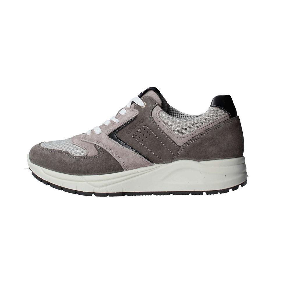 Sneaker Bassa Uomo Igi&Co in Camoscio e Tessuto Grigia - 1122511