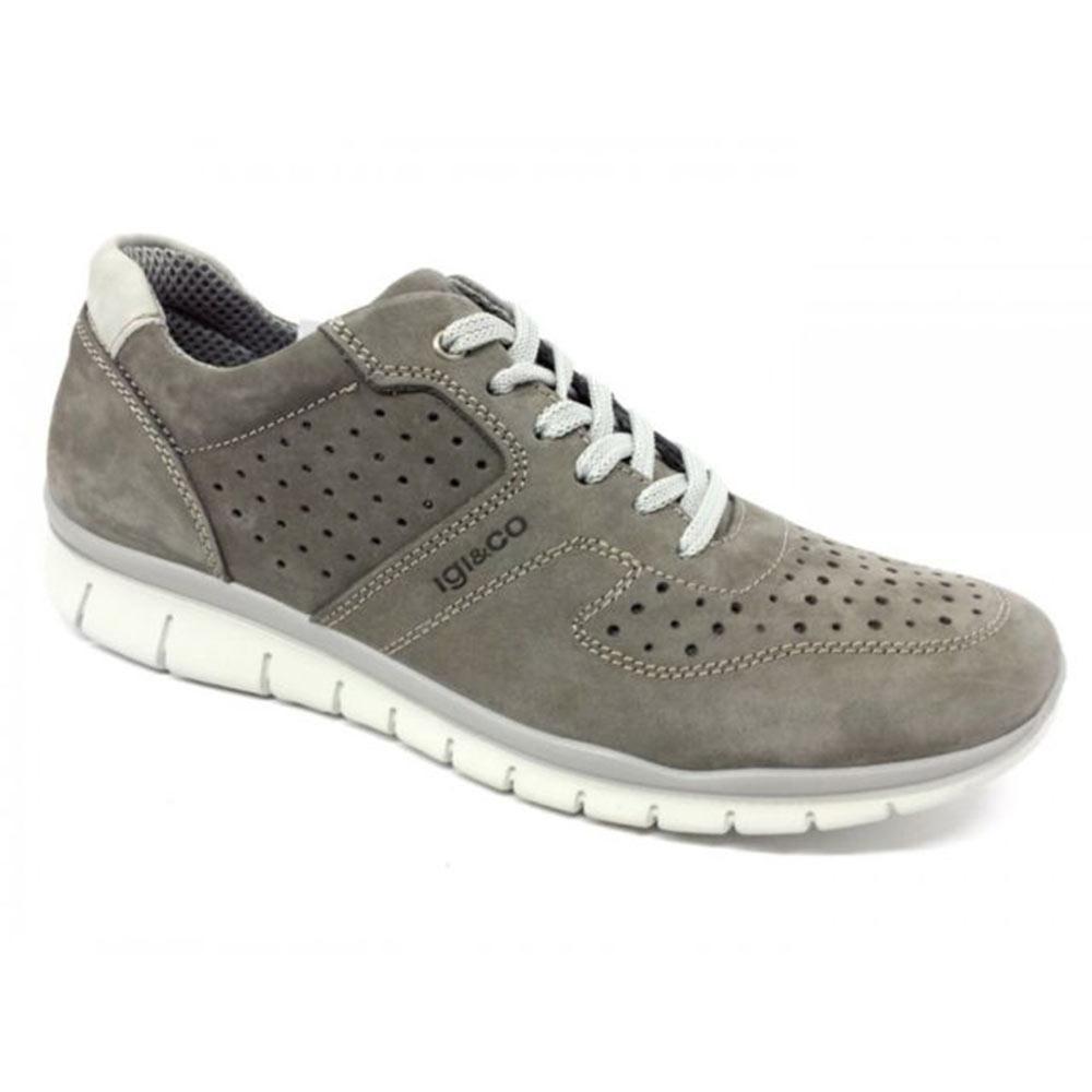Sneaker Bassa Uomo Igi&Co in Pelle Grigia - 1116411