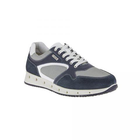 Sneaker Bassa Uomo Igi&Co in Pelle e Tessuto Blu - 1119000