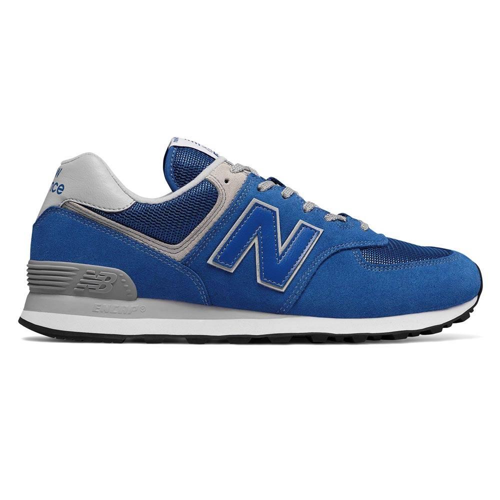 Sneaker Bassa Uomo New Balance in Camoscio Blu - NBML574EGN