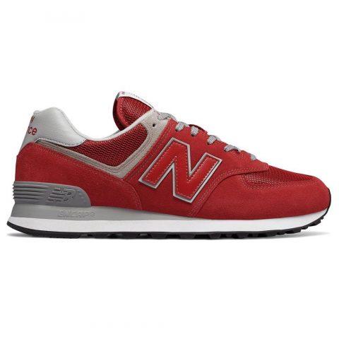 Sneaker Bassa Uomo New Balance in Camoscio Rossa - NBML574ERD