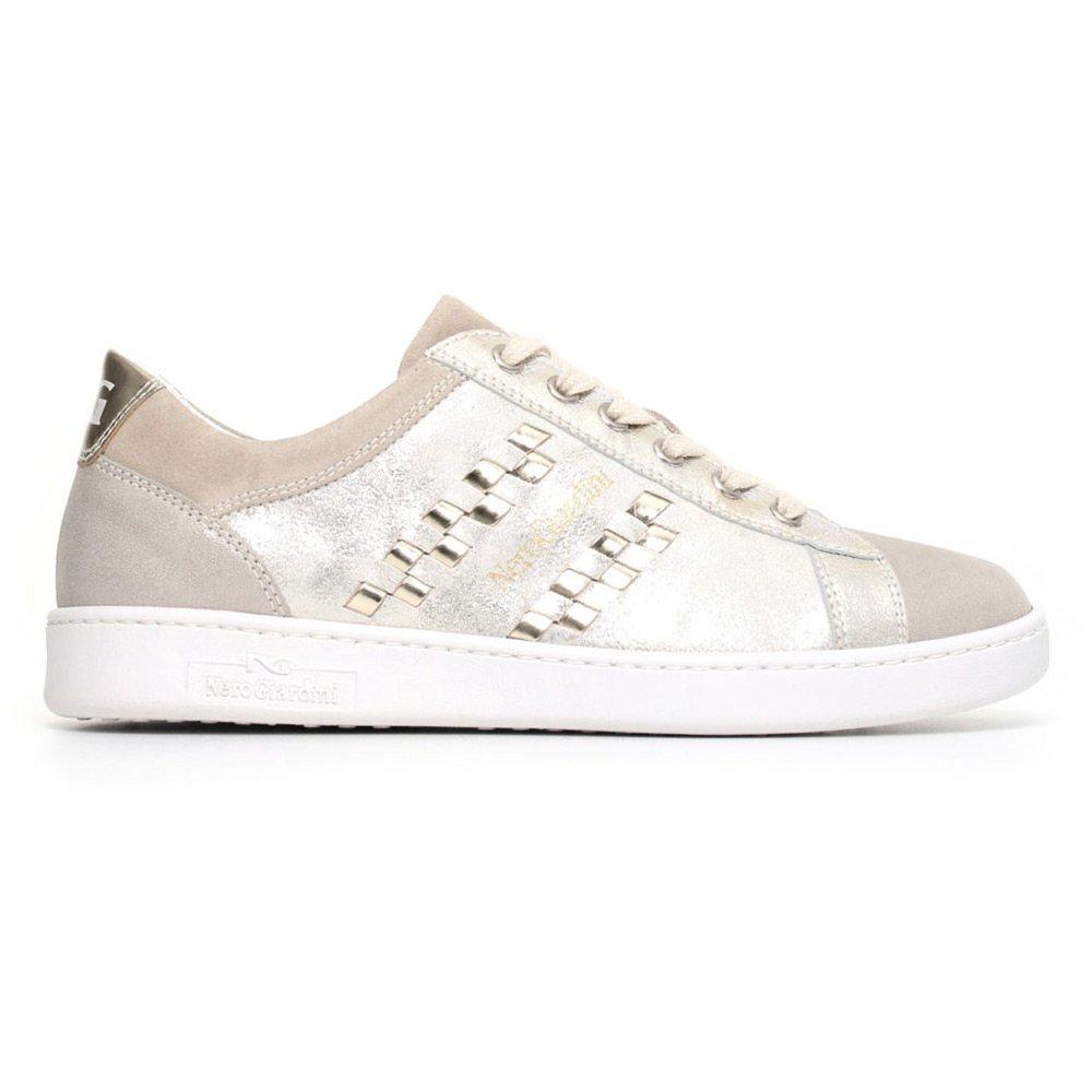 Sneaker Donna Nero Giardini Luxury in Pelle Grigia P805090D505